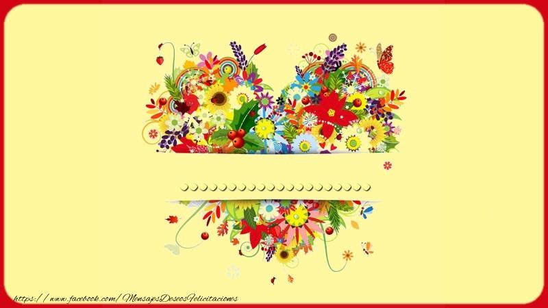 Felicitaciones Personalizadas de amor - Name on my heart ...