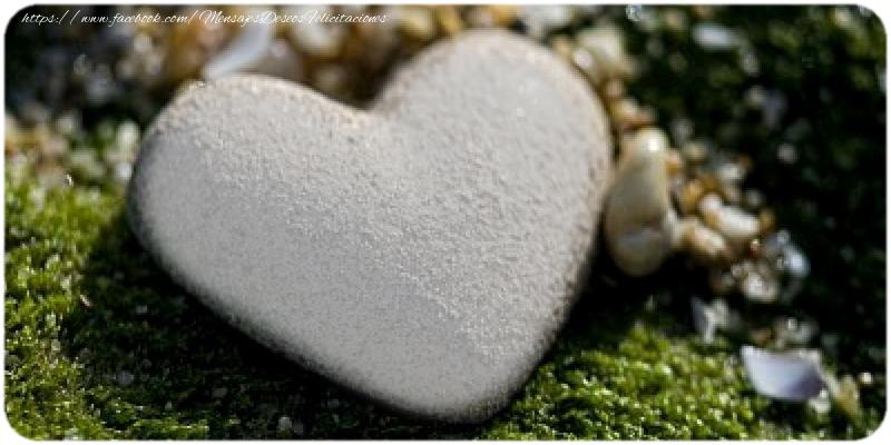 Felicitaciones Personalizadas de amor - Corazón personalizado