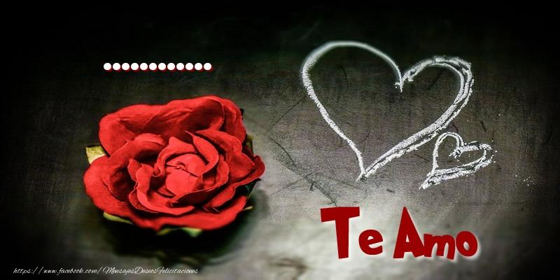 Felicitaciones Personalizadas de amor - ... Te Amo