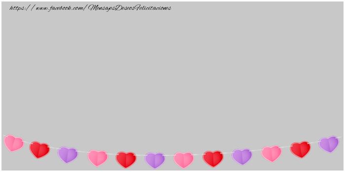 Felicitaciones Personalizadas de amor - Imagen con corazones