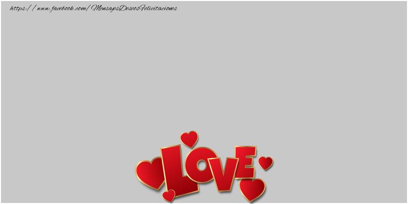 Felicitaciones Personalizadas de amor - I love you!