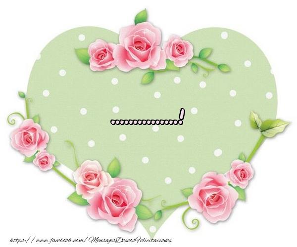 Felicitaciones Personalizadas de amor - In el corazon - ...