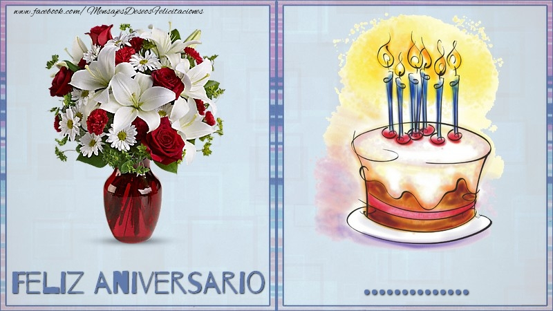 Felicitaciones Personalizadas de aniversario - Feliz aniversario ...