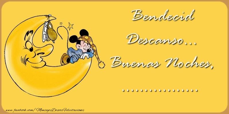 Felicitaciones Personalizadas de buenas noches - Bendecido Descanso... Buenas Noches, ...