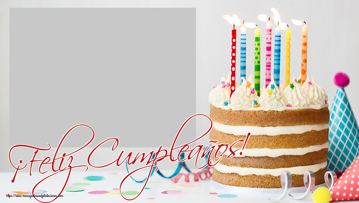 Felicitaciones Personalizadas de cumpleaños - ¡Feliz Cumpleaños! - Marco de foto de Cumpleaños