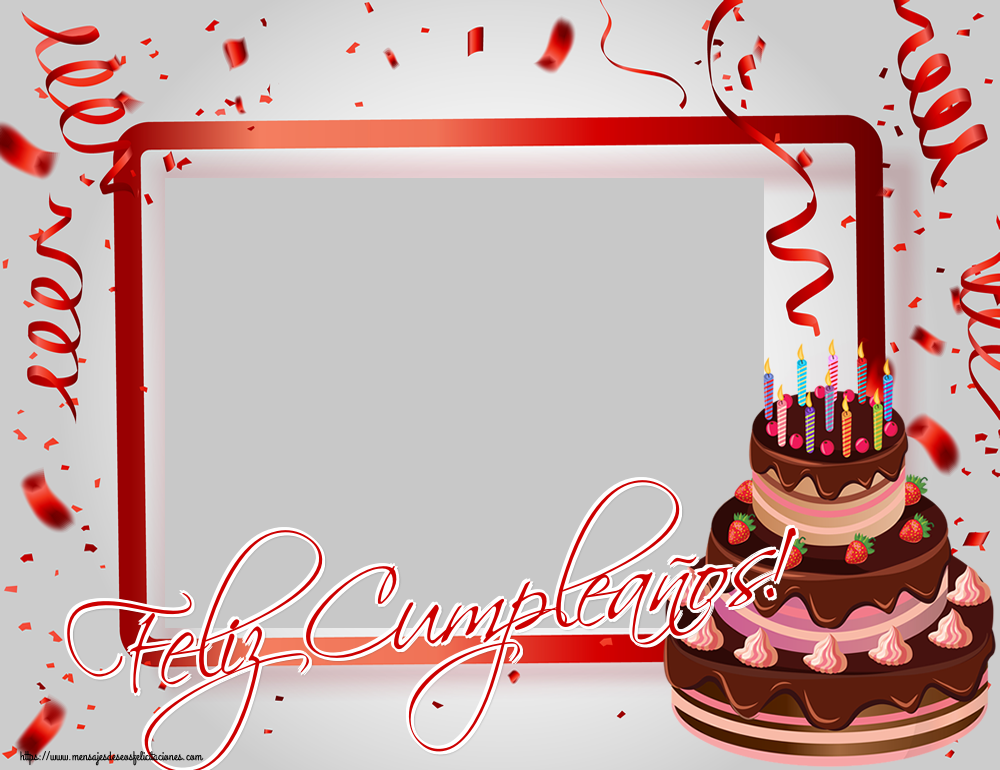 Felicitaciones Personalizadas de cumpleaños - Feliz Cumpleaños! - Marco de foto de Cumpleaños
