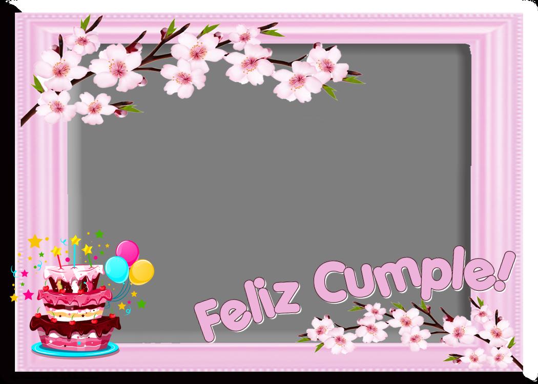 Felicitaciones Personalizadas de cumpleaños - Feliz Cumple! - Marco de foto