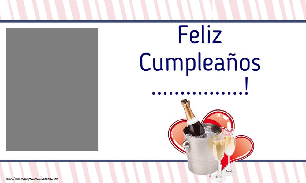 Felicitaciones Personalizadas de cumpleaños - Feliz Cumpleaños ...! - Marco de foto