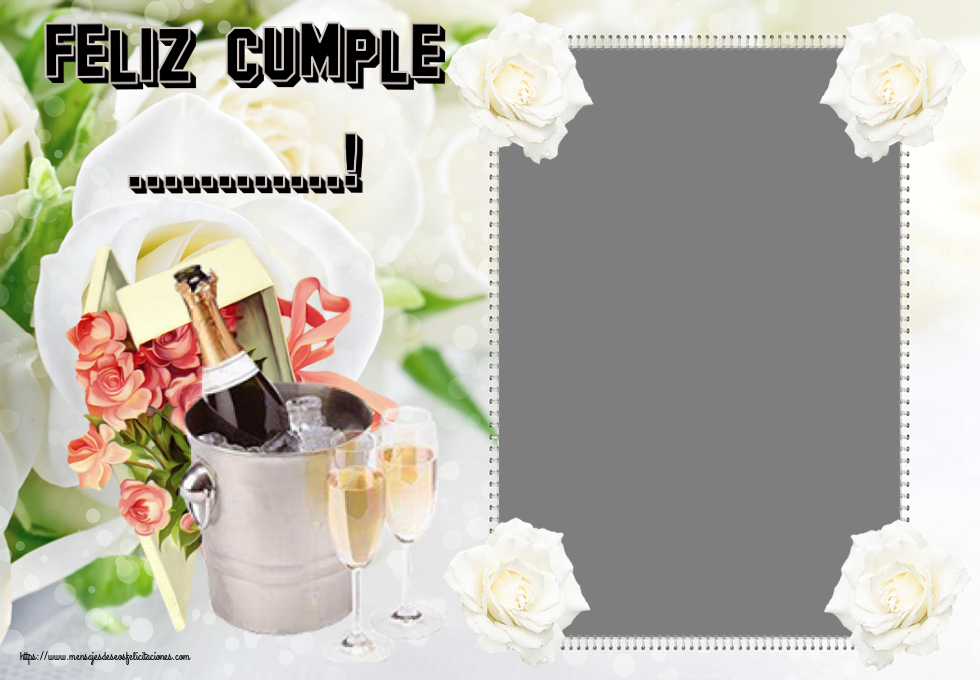 Felicitaciones Personalizadas de cumpleaños - Feliz Cumple ...! - Marco de foto