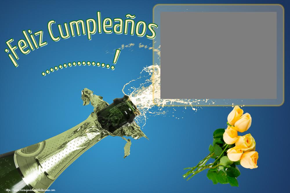 Felicitaciones Personalizadas de cumpleaños - ¡Feliz Cumpleaños ...! - Marco de foto