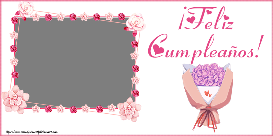 Felicitaciones Personalizadas de cumpleaños - ¡Feliz Cumpleaños! - Marco de foto