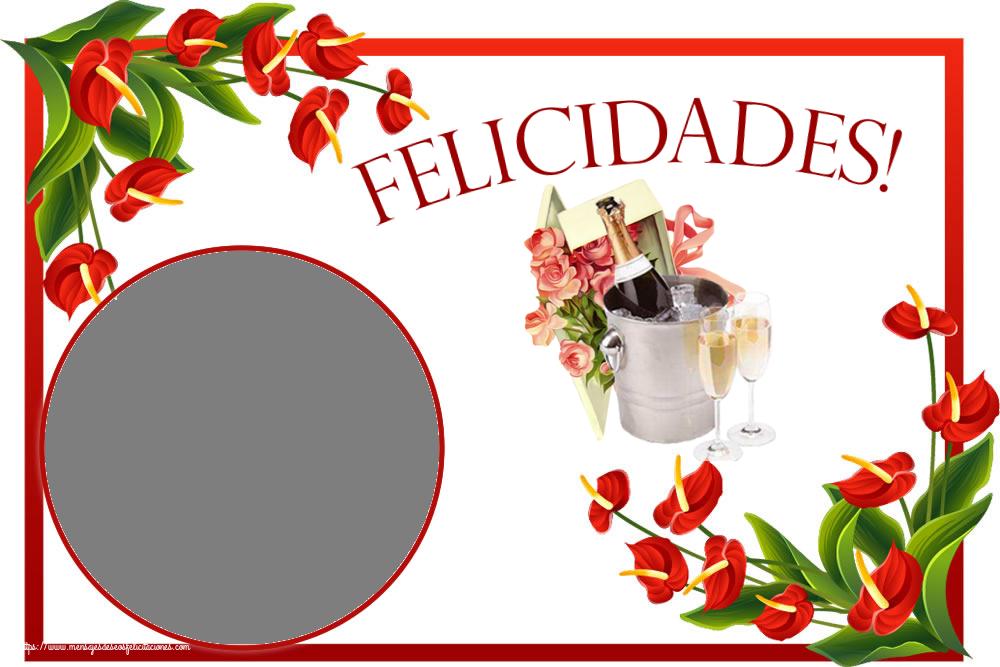 Felicitaciones Personalizadas de cumpleaños - Felicidades! - Marco de foto