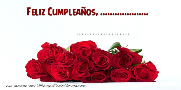 Felicitaciones Personalizadas de cumpleaños - Feliz Cumpleaños, ... ...