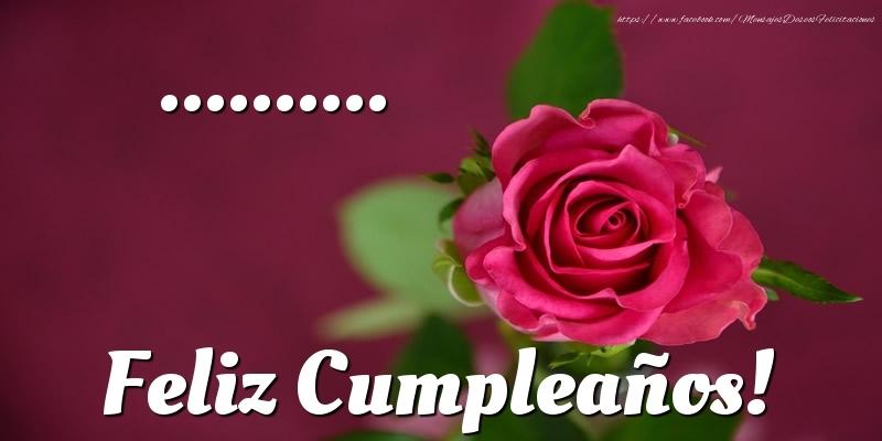 Felicitaciones Personalizadas de cumpleaños - ... Feliz Cumpleaños!