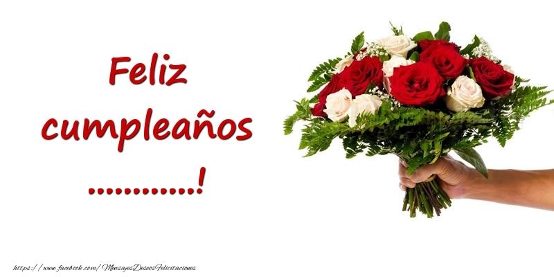 Felicitaciones Personalizadas de cumpleaños - Ramo de flores de feliz cumpleaños ...!