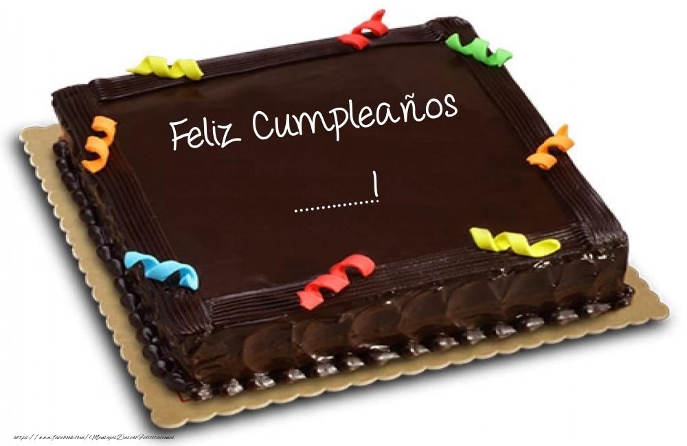 Felicitaciones Personalizadas de cumpleaños - Tartas - Feliz Cumpleaños ...!