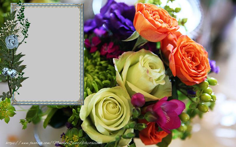 Felicitaciones Personalizadas con fotos - Rosas