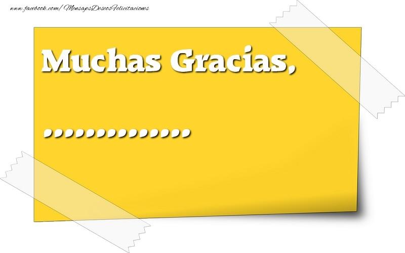 Felicitaciones Personalizadas de gracias - Muchas Gracias, ...