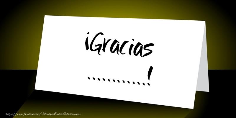 Felicitaciones Personalizadas de gracias - ¡Gracias ...!