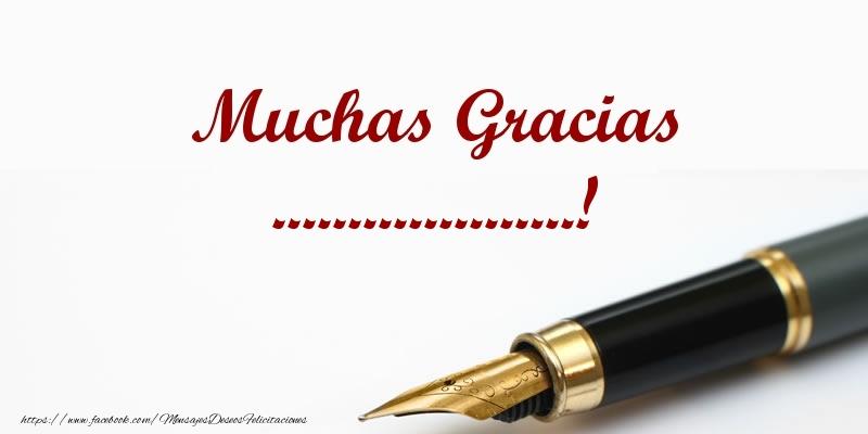 Felicitaciones Personalizadas de gracias - Muchas Gracias ...!