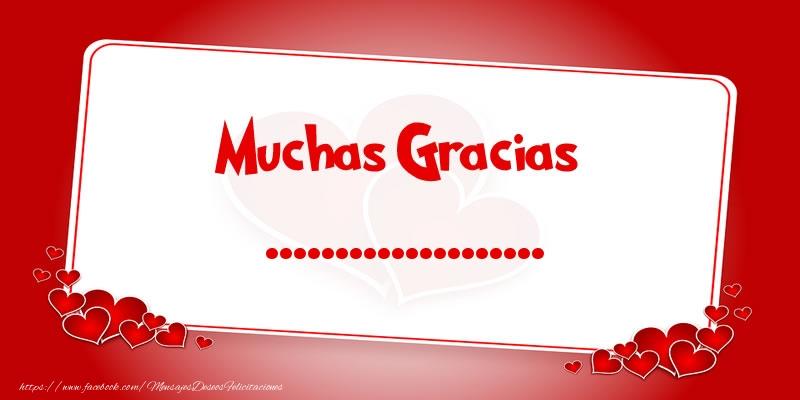 Felicitaciones Personalizadas de gracias - Muchas Gracias ...