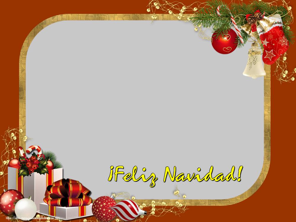 Felicitaciones Personalizadas de Navidad - ¡Feliz Navidad! - Marco de foto de Navidad