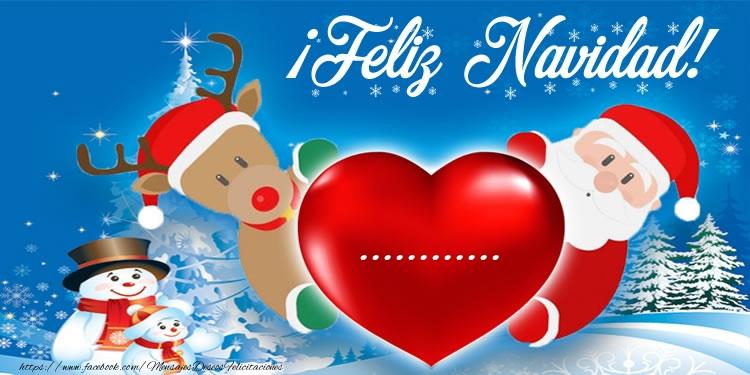 Felicitaciones Personalizadas de Navidad - ¡Feliz Navidad, ...!