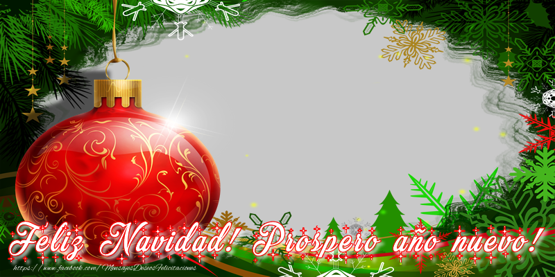Felicitaciones Personalizadas de Navidad - Feliz navidad! Prospero año nuevo!