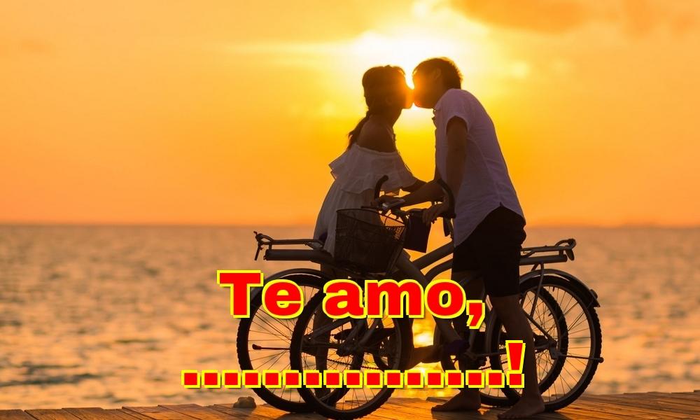 Felicitaciones Personalizadas de San Valentín - Te amo, ...!