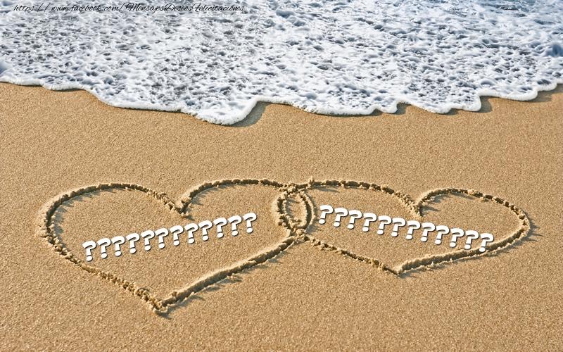 Felicitaciones Personalizadas de San Valentín - Dos corazones con nombres ... ...