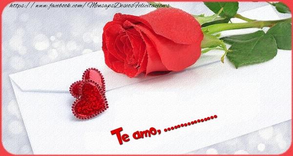 Felicitaciones Personalizadas de San Valentín - Te amo  ...