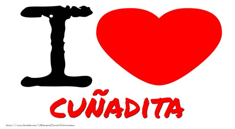 Felicitaciones de amor para cuñada - I Love cuñadita