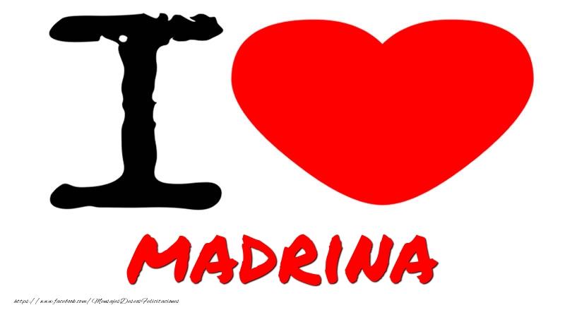 Felicitaciones de amor para madrina - I Love madrina