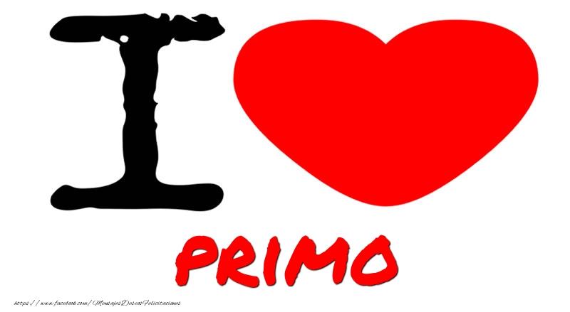 Felicitaciones de amor para primo - I Love primo