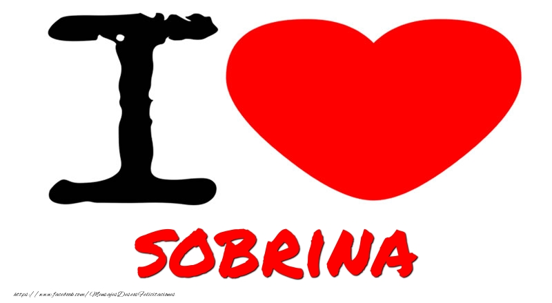 Felicitaciones de amor para sobrina - I Love sobrina