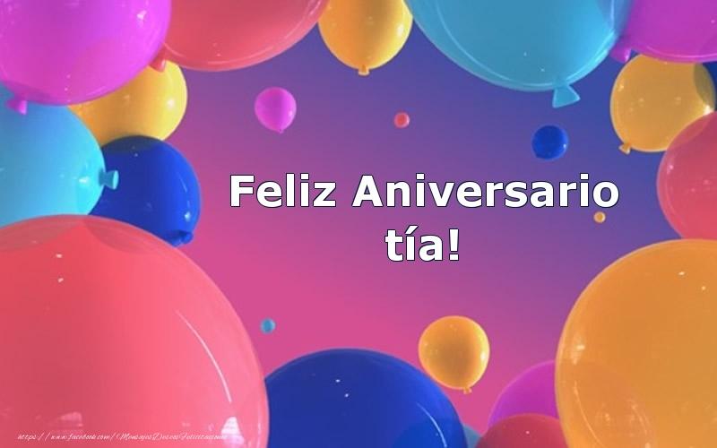Felicitaciones de aniversario para tía - Feliz Aniversario tía!