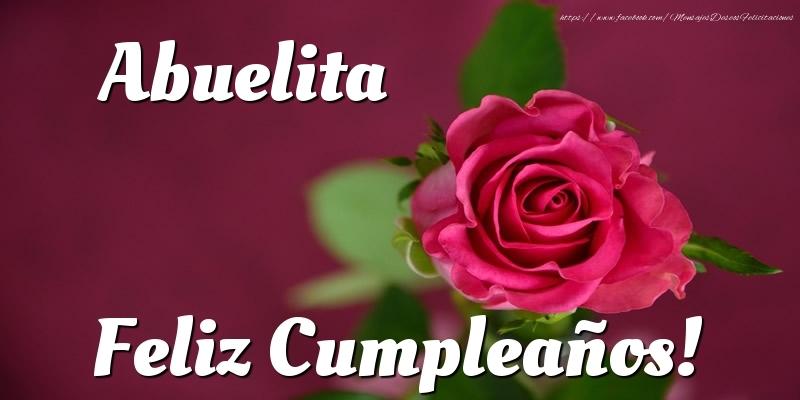 Felicitaciones de cumpleaños para abuela - Abuelita Feliz Cumpleaños!