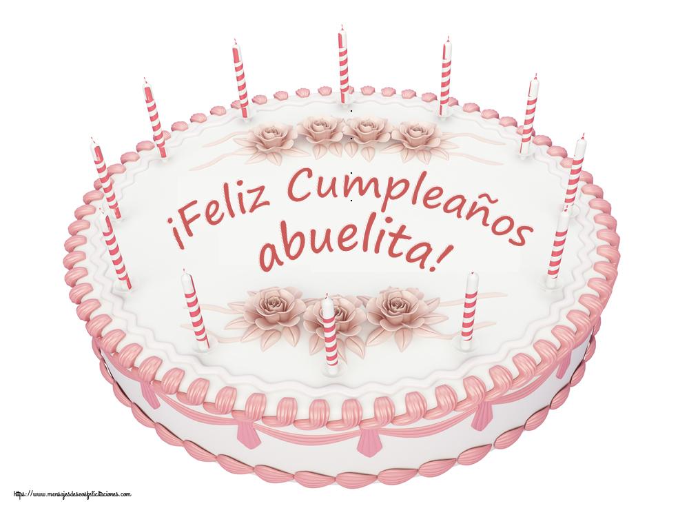 Felicitaciones de cumpleaños para abuela - ¡Feliz Cumpleaños abuelita! - Tartas