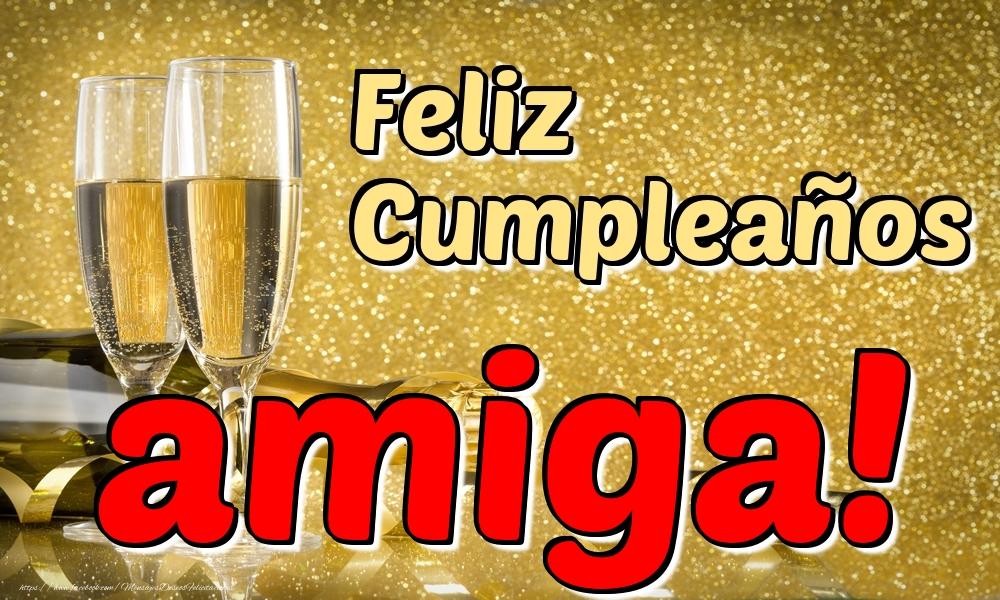 Felicitaciones de cumpleaños para amiga - Feliz Cumpleaños amiga!