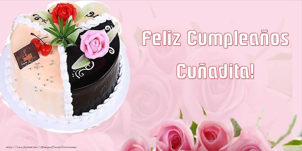 Felicitaciones de cumpleaños para cuñada - Feliz Cumpleaños cuñadita!