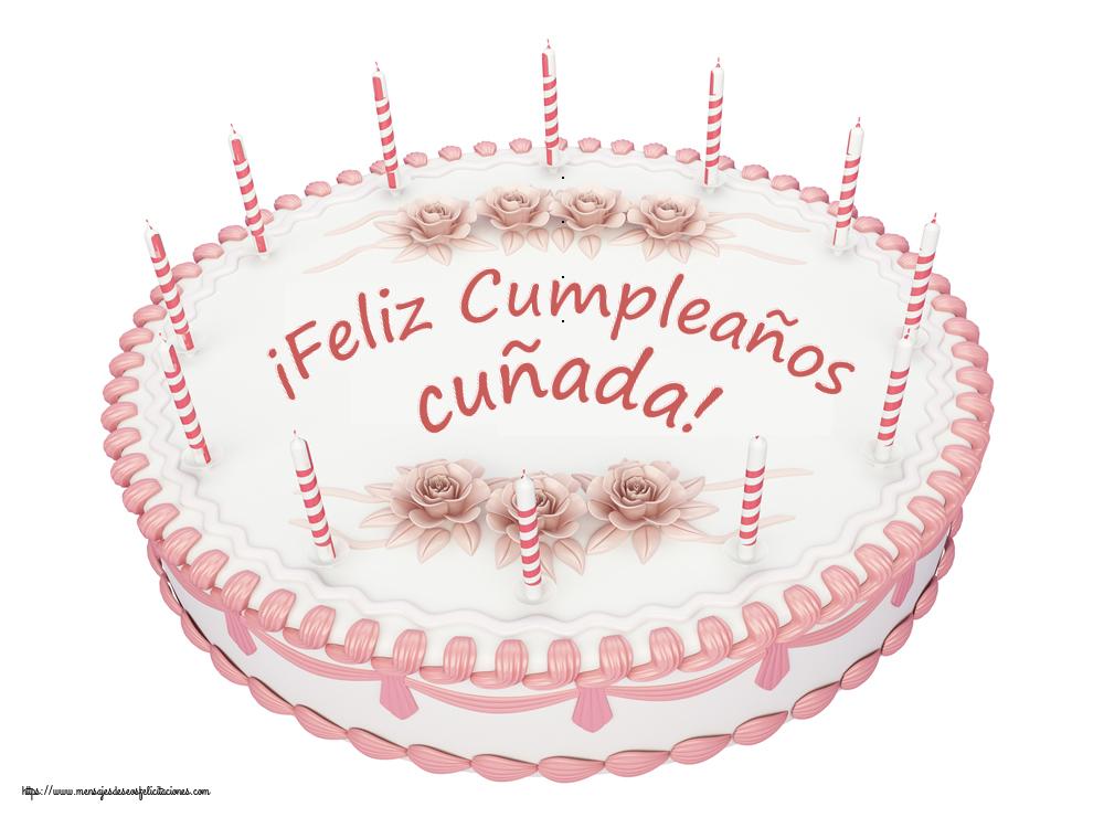 Felicitaciones de cumpleaños para cuñada - ¡Feliz Cumpleaños cuñada! - Tartas