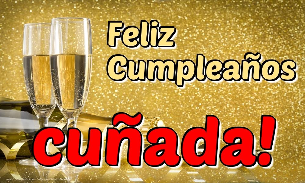 Felicitaciones de cumpleaños para cuñada - Feliz Cumpleaños cuñada!