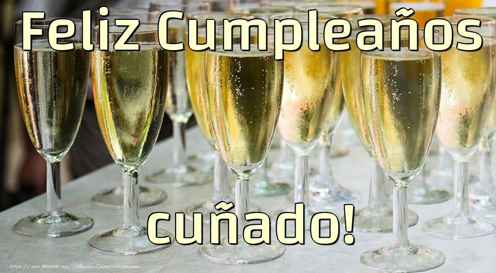 Felicitaciones de cumpleaños para cuñado - Feliz Cumpleaños cuñado!