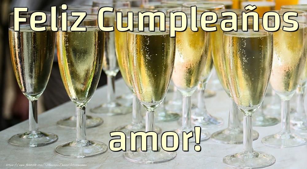 Felicitaciones de cumpleaños para esposo - Feliz Cumpleaños amor!