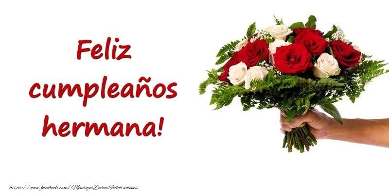 Felicitaciones De Cumpleanos Para Hermana Ramo De Flores De Feliz