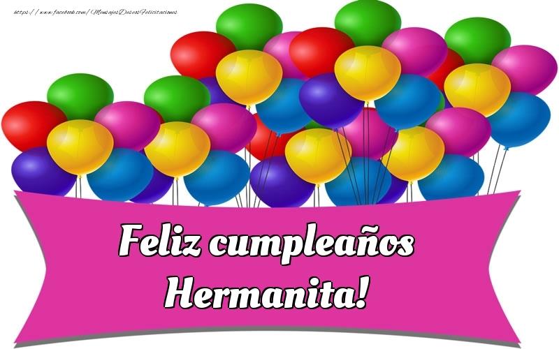 Felicitaciones de cumpleaños para hermana - Feliz cumpleaños hermanita!