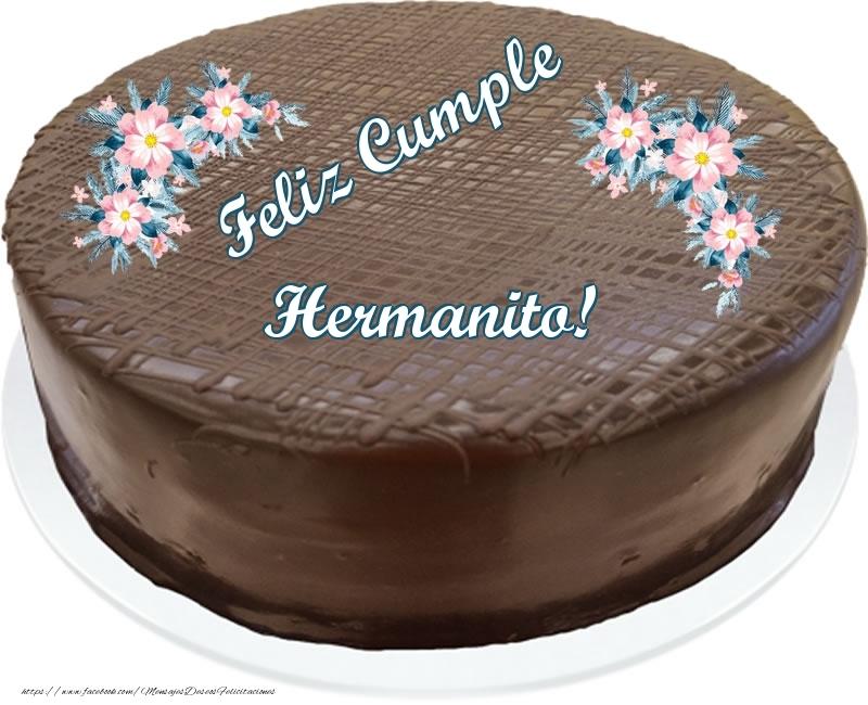 Felicitaciones de cumpleaños para hermano - Feliz Cumple hermanito! - Tarta con chocolate