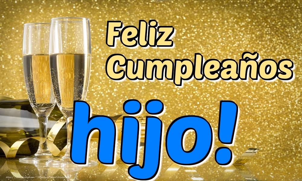 Felicitaciones de cumpleaños para hijo - Feliz Cumpleaños hijo!