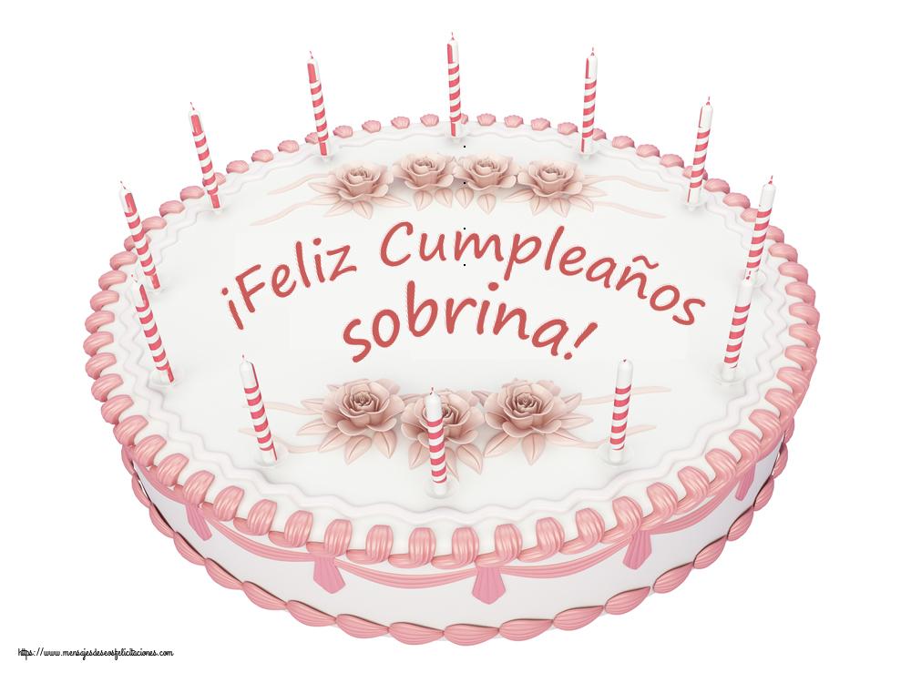 Felicitaciones de cumpleaños para sobrina - ¡Feliz Cumpleaños sobrina! - Tartas