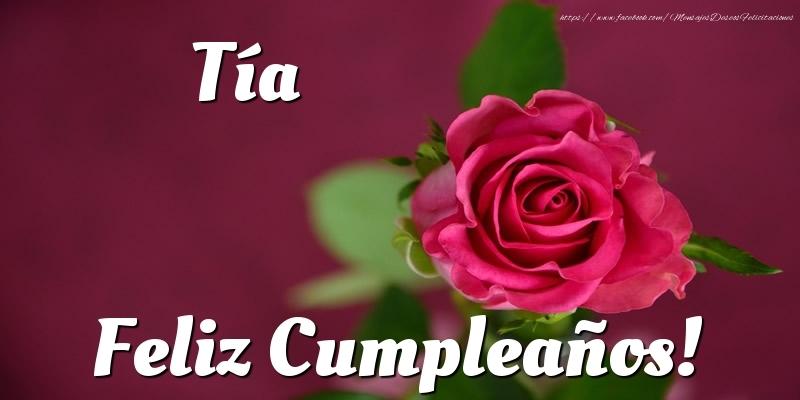 Felicitaciones De Cumpleaños Para Tía Tía Feliz Cumpleaños